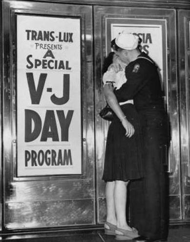V-J Day Kiss from LOC